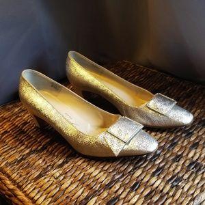 Roger Vivier vintage silver rhinestone buckle heel